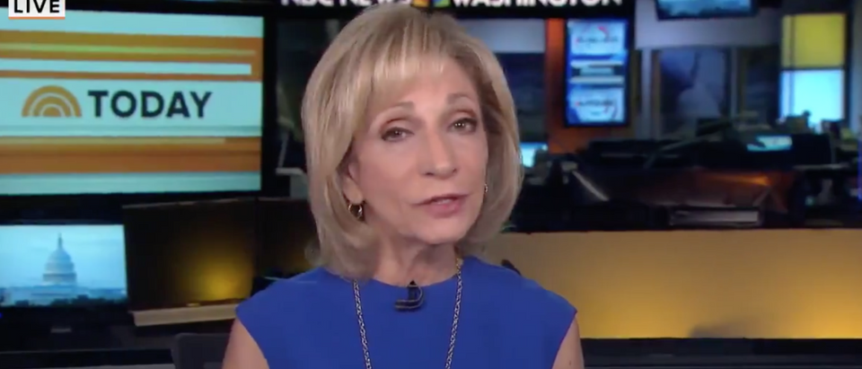 MSNBC host Andrea Mitchell defends former Vice President Joe Biden. Screen Shot/MSNBC