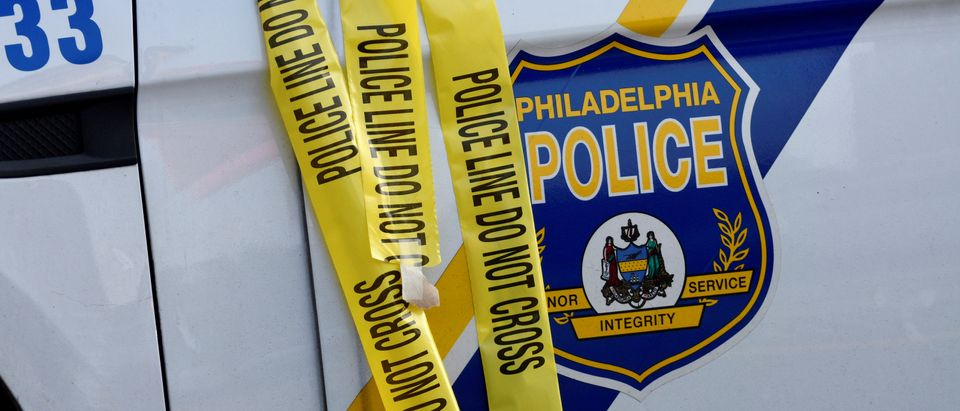 Police tape is seen during an active shooter situation, where Philadelphia police officers were shot during a drug raid on a home, in Philadelphia, Pennsylvania, U.S. August 14, 2019. REUTERS/Bastiaan Slabbers