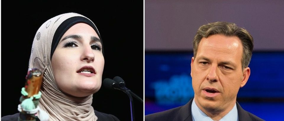 Linda Sarsour continues to go after CNN's Jake Tapper for allegedly spreading conservative propaganda. (Monica Schipper/Getty Images for The New York Women's Foundation, Scott Eisen/Getty Images)