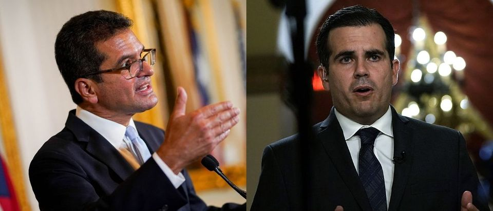 Two prominent Puerto Rican politicians filed lawsuits to remove the territory's governor Pedro Pierluisi (L), who stepped up to the position from secretary of state after former Gov. Ricardo Rosselló (R) resigned Aug. 2, 2019. Angel Valentin/Getty Images and Alex Wong/Getty Images