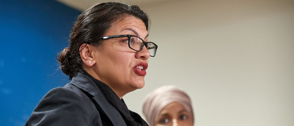 Rep. Ilhan Omar And Rep. Rashida Tlaib Hold Press Conference To Address Being Barred From Travelling To Israel