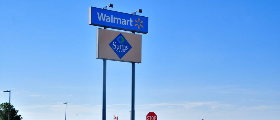 El Paso, Texas / USA - Circa August 2019 Police and Highway patrol blocking all entrances to Walmart, scene of the 3 August mass shooting in El Paso, Texas. (Grossinger/Shutterstock)