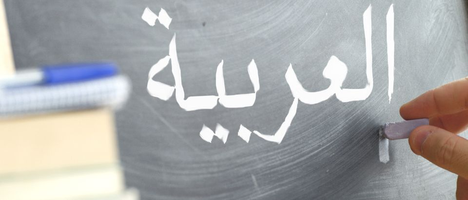 Arabic on chalkboard/ Shutterstock