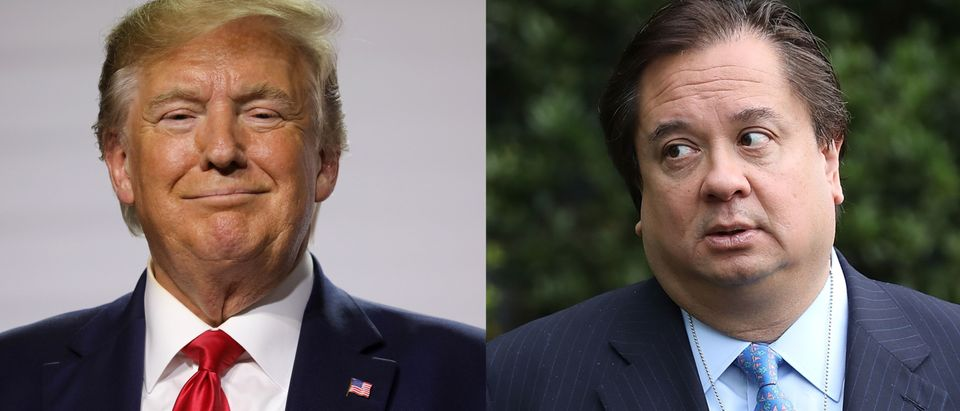 Left: President Donald Trump Right: George Conway (LUDOVIC MARIN/AFP/Getty Images; Chip Somodevilla/Getty Images)