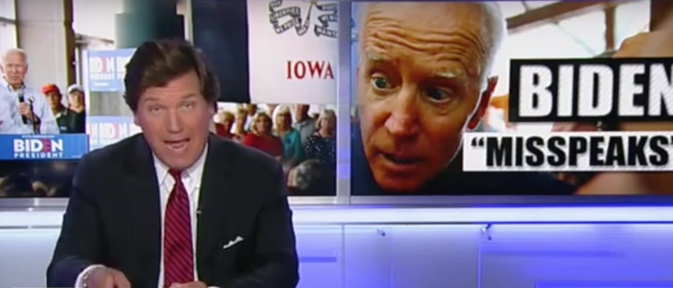 "Tucker Carlson hosts his show on Fox News, ""Tucker Carlson Tonight."" Screen Shot/Fox News"