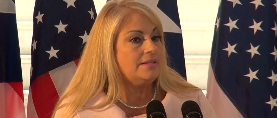 Puerto Rico's Secretary of Justice Wanda Vazquez attends a news conference in an undated still image from file video in San Juan