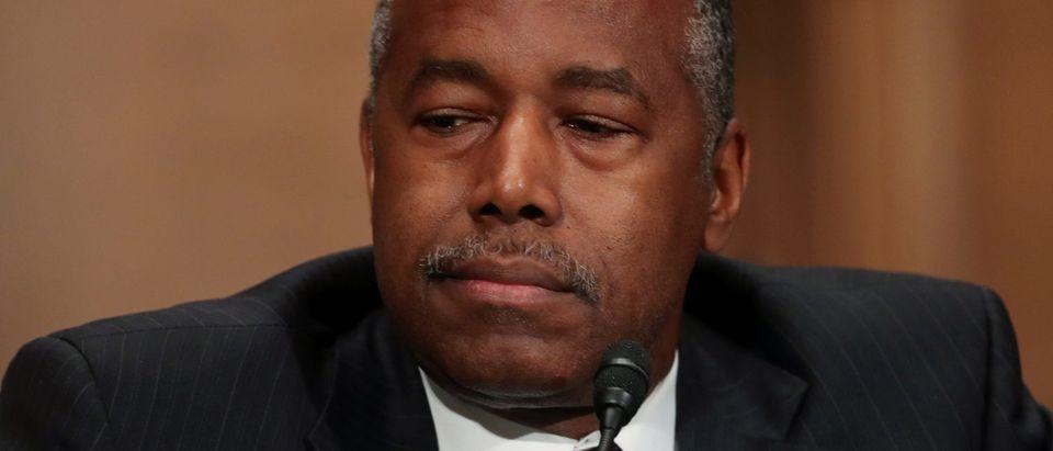 U.S. HUD Secretary Carson appears before Senate Banking hearing on Capitol Hill in Washington
