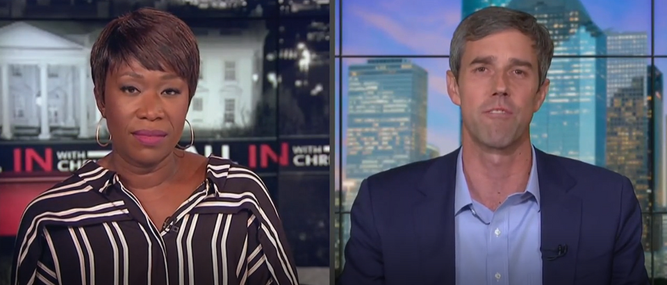 Beto O'Rourke talks about mandatory gun buyback (MSNBC screengrab)