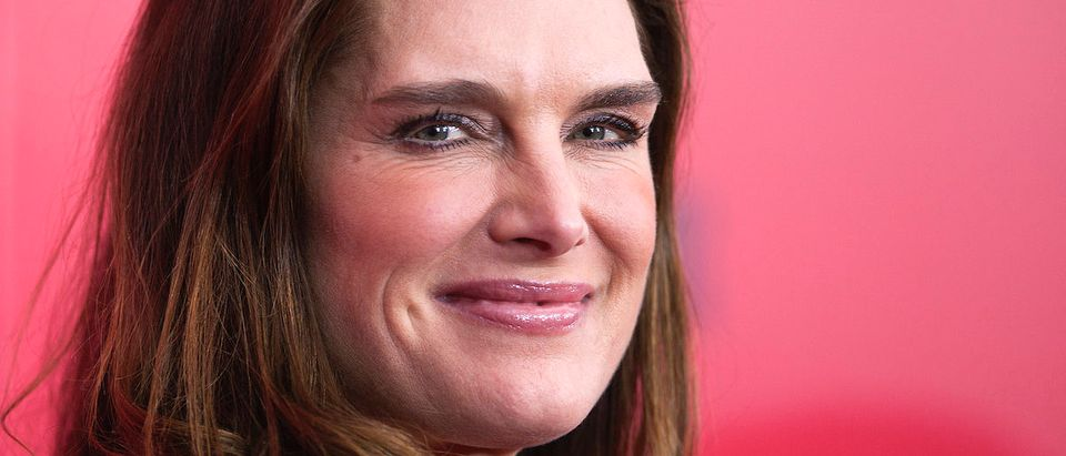 "Actress Brooke Shields attends the premiere of the film ""The Hunger Games: Catching Fire"" in New York, November 20, 2013. REUTERS/Carlo Allegri"