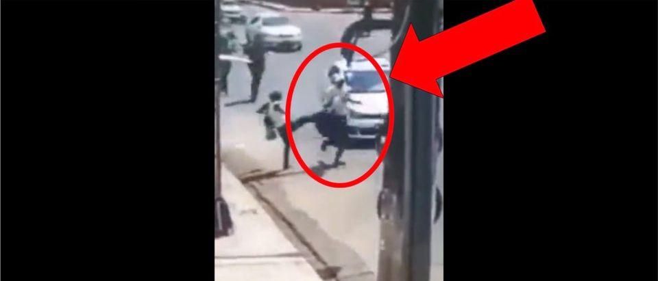 Hit by car LiveLeak Video (Credit: Screenshot/LiveLeak Video https://www.liveleak.com/view?t=uGR7Y_1567434909)