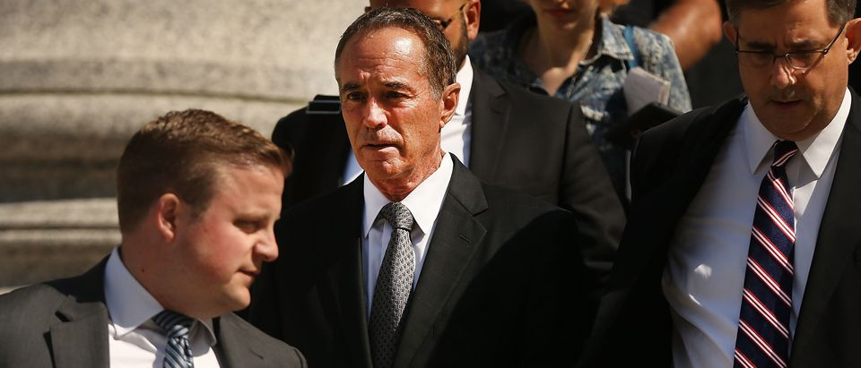 NEW YORK, NY - AUGUST 08: Rep. Chris Collins (R-NY) walks out of a New York court house after being charged with insider trading on August 8, 2018 in New York City. (Spencer Platt/Getty Images)