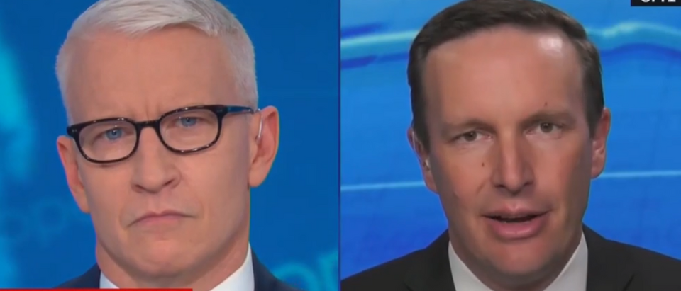 Chris Murphy talks to CNN's Anderson Cooper (CNN screengrab)