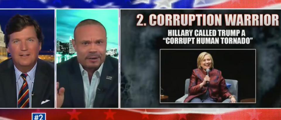 Dan Bongino and Tucker Carlson poke fun at Hillary Clinton (Fox News screengrab)
