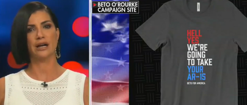 Dana Loesch discusses O'Rourke campaign T-shirts (Fox News screengrab)