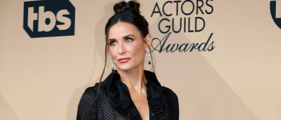 Presenter Demi Moore poses backstage at the 22nd Screen Actors Guild Awards in Los Angeles, California January 30, 2016. REUTERS/Mike Blake