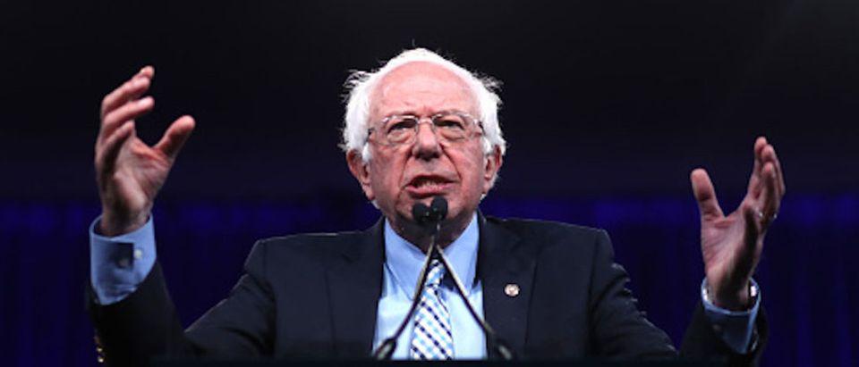 Democratic presidential candidate U.S. Sen. Bernie Sanders (I-VT) speaks during the Democratic Presidential Committee (DNC) summer meeting on August 23, 2019 in San Francisco, California