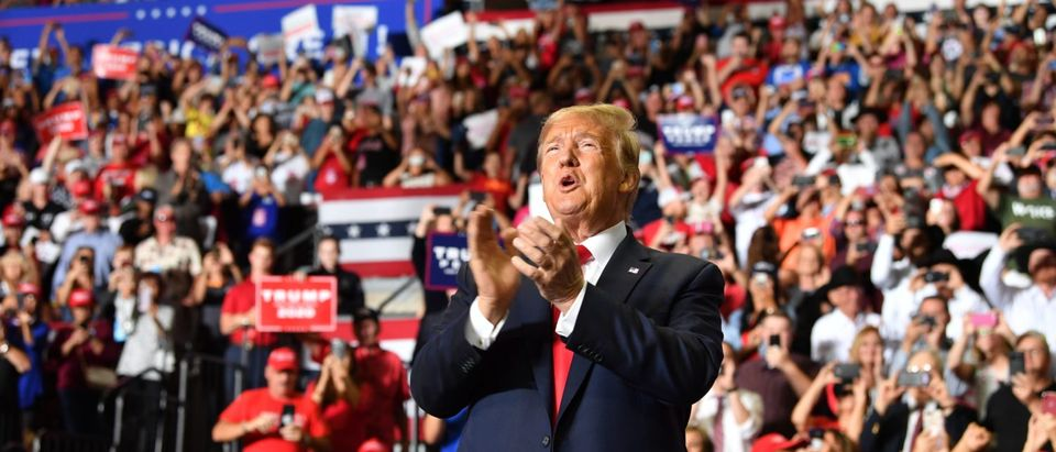 President Donald Trump during a campaign rally in Rio Rancho, New Mexico, on September 16, 2019. (Nicholas Kamm/AFP/Getty Images)