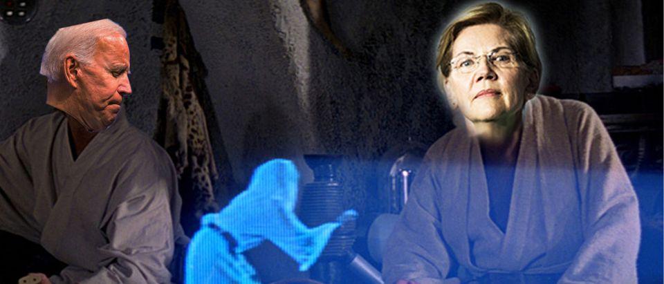 Joe Biden, Elizabeth Warren (Getty Images, Daily Caller)