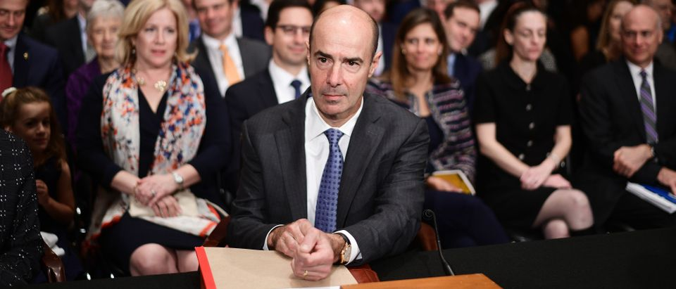 Eugene Scalia is at his confirmation hearing for labor secretary on Sept. 19, 2019. (Astrid Riecken/Getty Images)