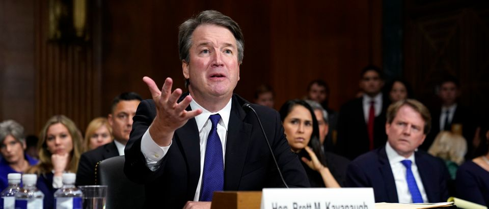 Supreme Court nominee Judge Brett Kavanaugh testifies before the Senate Judiciary Committee on Capitol Hill on September 27, 2018 in Washington, DC. (Andrew Harnik - Pool/Getty Images)