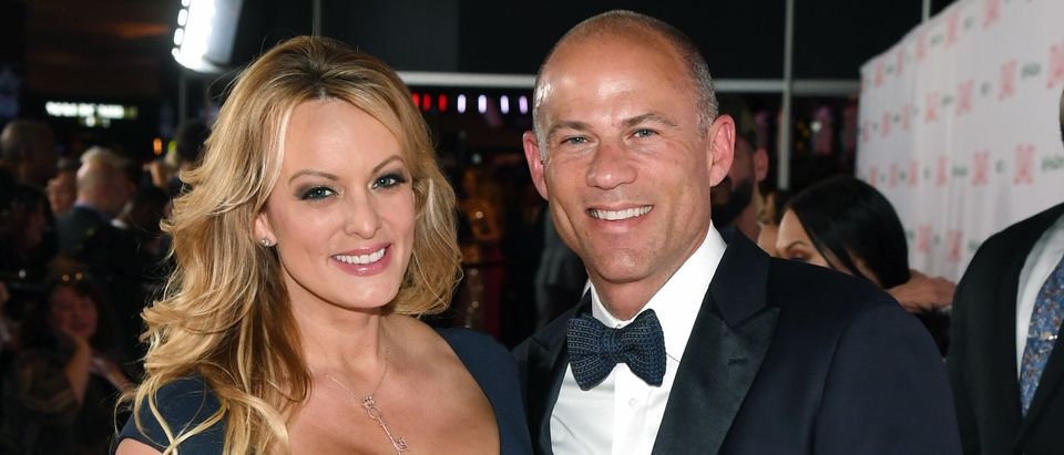 Adult film actress/director Stormy Daniels (L) and attorney Michael Avenatti attend the 2019 Adult Video News Awards at The Joint inside the Hard Rock Hotel & Casino on Jan. 26, 2019 in Las Vegas, Nevada. (Photo by Ethan Miller/Getty Images)