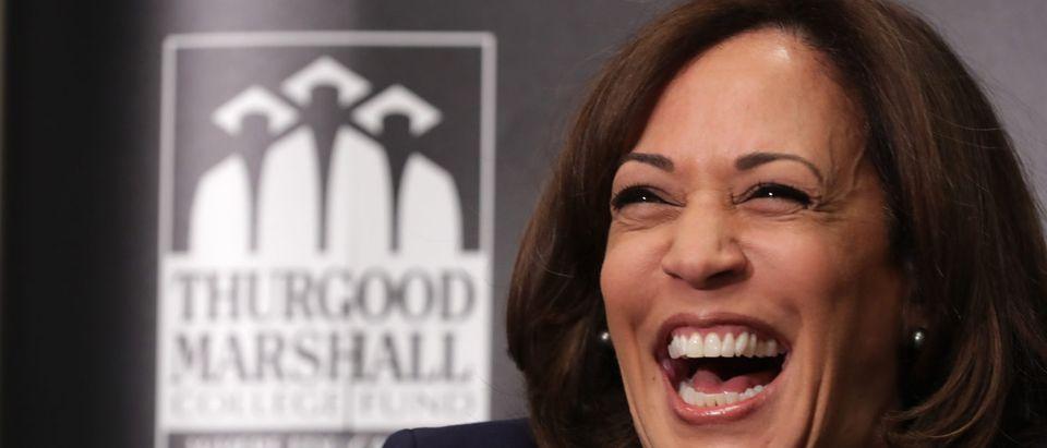 Kamala Harris Speaks At Thurgood Marshall College Fund