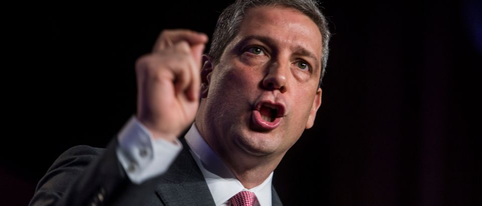 WASHINGTON, DC - APRIL 10: Rep. Tim Ryan (D-OH) speaks during the North American Building Trades Unions Conference at the Washington Hilton April 10, 2019 in Washington, DC. Many Democrat presidential hopefuls attended the conference in hopes of drawing the labor vote. (Photo by Zach Gibson/Getty Images)