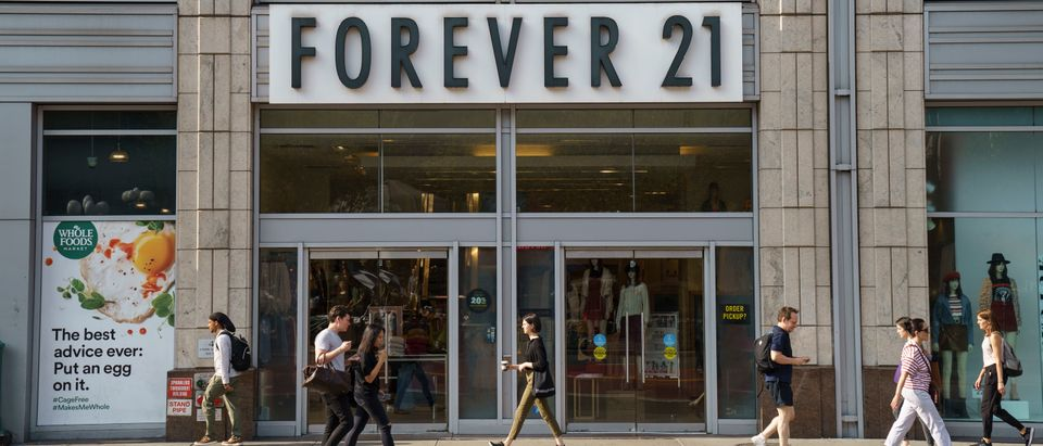 A Forever 21 store stands in Union Square in Manhattan on September 12, 2019 in New York City. The Wall Street Journal reported that the retail chain is planning to file for bankruptcy as soon as Sunday. The company is refuting these reports and said they plan to continue operating a vast majority of their U.S. stores. (Photo by Drew Angerer/Getty Images)