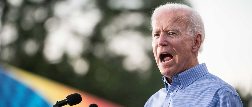 Former Vice President and Democratic presidential candidate Joe Biden addresses the crowd at The Galivants Ferry Stump on Sept. 16, 2019 in Galivants Ferry, South Carolina. (Sean Rayford/Getty Images)