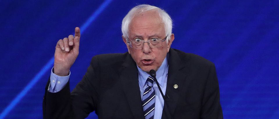 Democratic presidential candidate Sen. Bernie Sanders (I-VT) speaks during the Democratic Presidential Debate at Texas Southern University's Health and PE Center on September 12, 2019 in Houston, Texas. (Win McNamee/Getty Images)