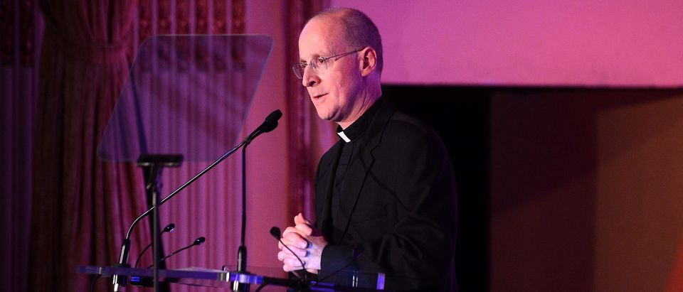 NEW YORK, NY - NOVEMBER 19: FR. James Martin speaks onstage at the 2nd Annual Save The Children Illumination Gala at the Plaza on November 19, 2014 in New York City. (Photo by Stephen Lovekin/Getty Images for Save the Children)
