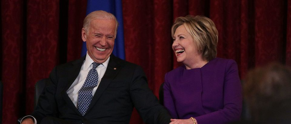 Hillary Clinton And VP Biden Attend Portrait Unveiling For Senate Democratic Leader Harry Reid