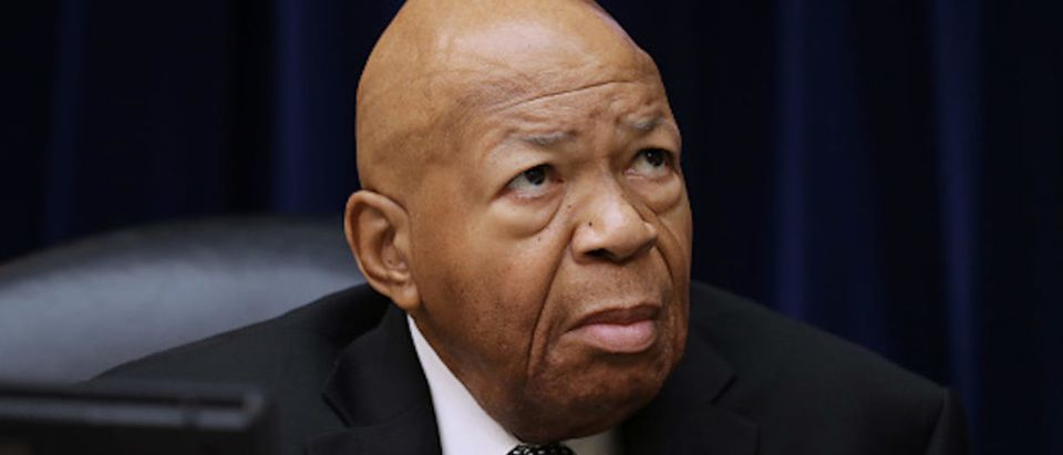 House Oversight and Government Reform Committee Chairman Elijah Cummings (D-MD) prepares for a hearing on drug pricing in the Rayburn House Office building on Capitol Hill July 26, 2019 in Washington, DC