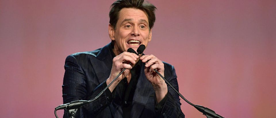 Jim Carrey presents the Vanguard Award onstage at the 30th Annual Palm Springs International Film Festival Film Awards Gala at Palm Springs Convention Center on January 3, 2019 in Palm Springs, California