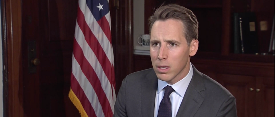 GOP Sen. Josh Hawley of Missouri speaks to Hill.TV in September 2019. (Screenshot/Hill.TV)