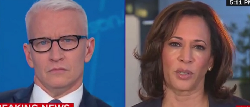 Kamala Harris says Trump's Twitter should be suspenced (Fox News screengrab)