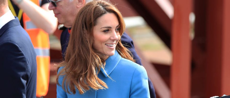 Britain's Prince William and Catherine, Duchess of Cambridge, arrive at the naming ceremony for the new polar research ship RRS Sir David Attenborough at Cammell Laird shipyard in Birkenhead, Britain, September 26, 2019. Peter Byrne/Pool via REUTERS
