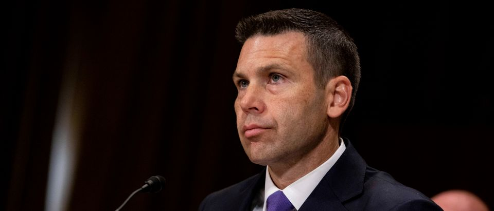 WASHINGTON, DC - JUNE 11: Acting Homeland Security Secretary Kevin McAleenan listens during a hearing with the Senate Judiciary Committee on Capitol Hill on June 11, 2019 in Washington, DC. Members of the committee and the witness discussed the Secure and Protect Act of 2019 and how it would fix the crisis at the U.S. Southern Border. (Photo by Anna Moneymaker/Getty Images)
