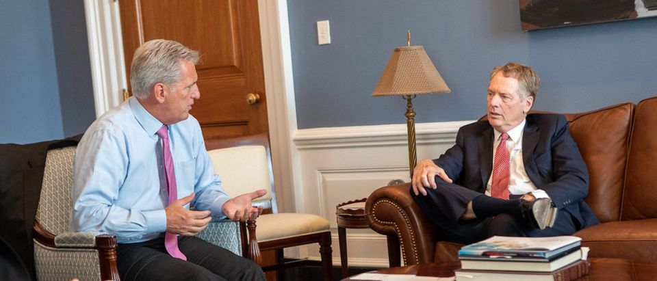 McCarthy and Lighthizer:Photo Credit Kevin McCarthy's office