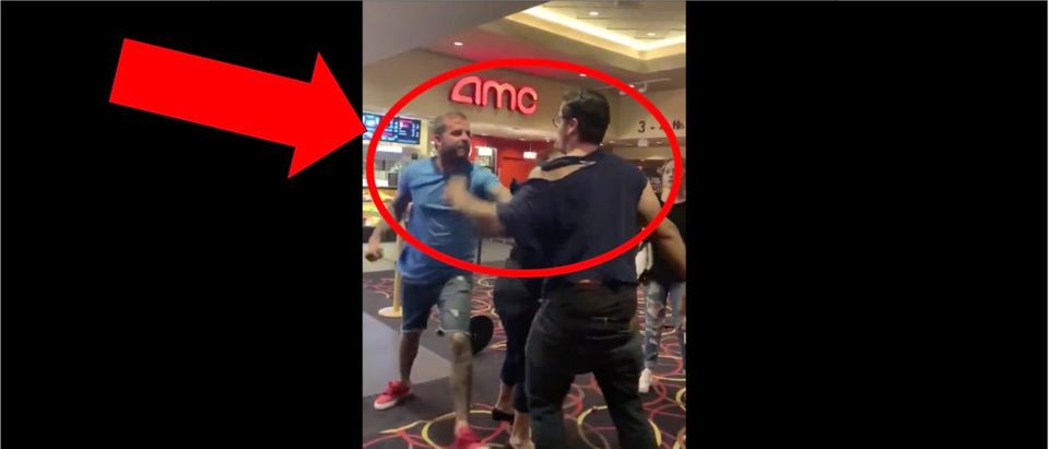 Movie Theater Fight (Credit: Screenshot/Twitter Video https://twitter.com/barstoolsports/status/1171508690723041280)