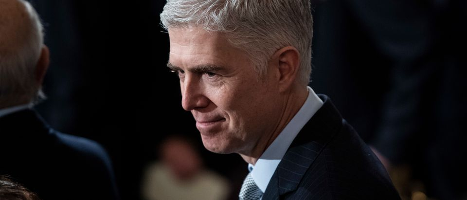 Justice Neil Gorsuch at the Capitol Rotunda on December 3, 2018. (Jabin Botsford/Pool/Getty Images)
