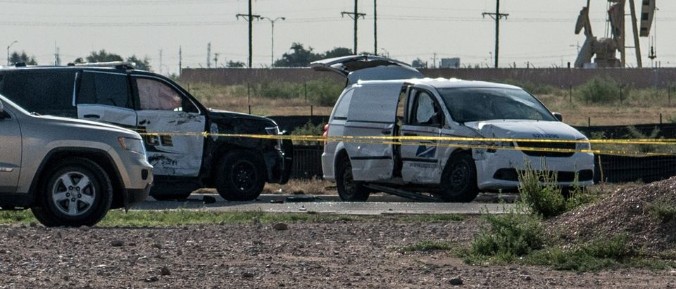 The scene of a deadly shooting spree in Odessa, Texas on September 1, 2019. (Cengiz Yar/Getty Images)