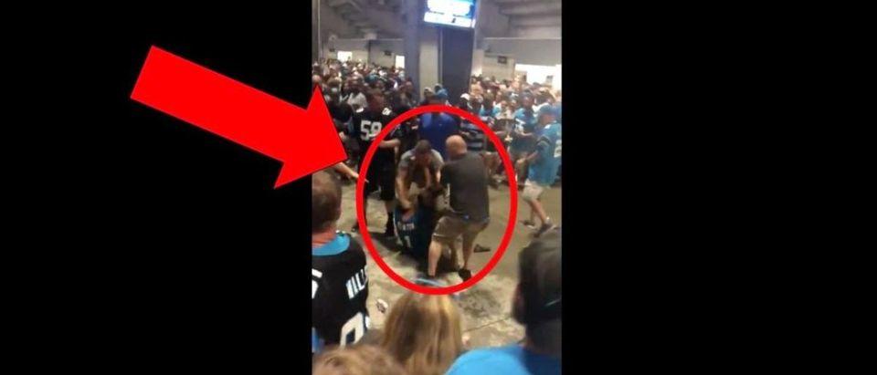 Carolina Panthers Fight (Credit: Screenshot/Twitter Video https://twitter.com/EspnDrunk/status/1172329516988919811)