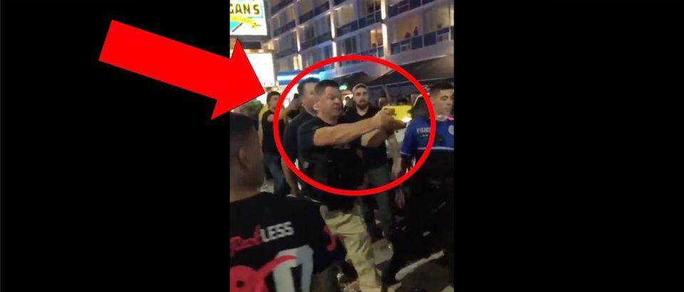 Police Taser Video (Credit: Screenshot/Twitter Video https://twitter.com/barstoolsports/status/1178382979376304129?s=21)