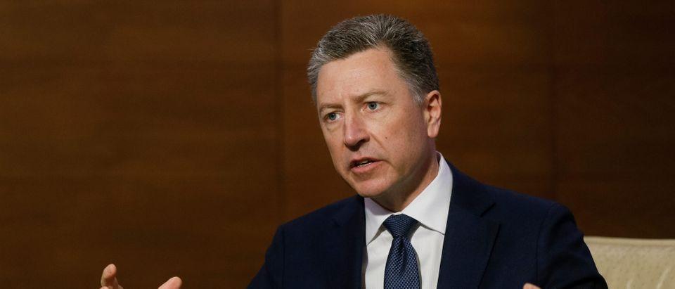 U.S. Special Representative for Ukraine Negotiations Volker speaks during Reuters interview in Kiev