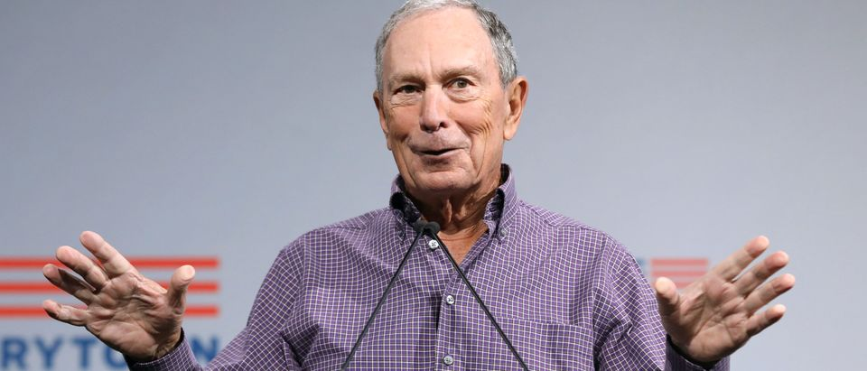 Former New York City Mayor Michael R. Bloomberg speaks during the Presidential Gun Sense Forum in Des Moines