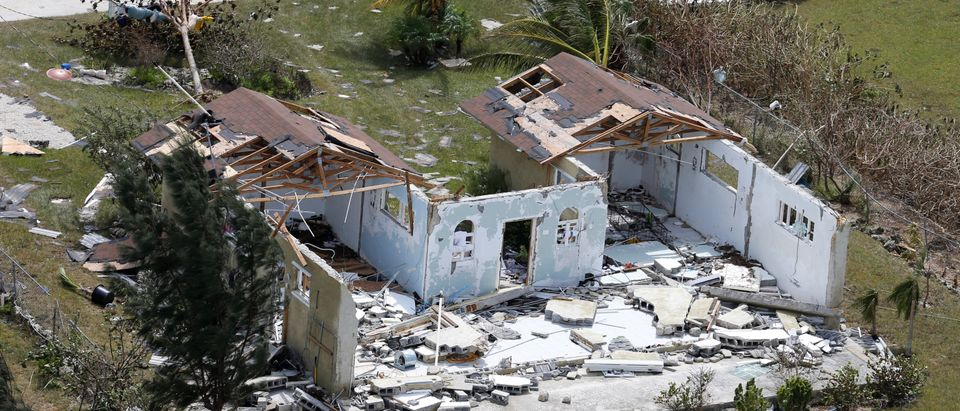 An aerial view shows devastation after hurricane Dorian hit the Grand Bahama Island in the Bahamas, Sept. 4, 2019. (REUTERS/Joe Skipper)