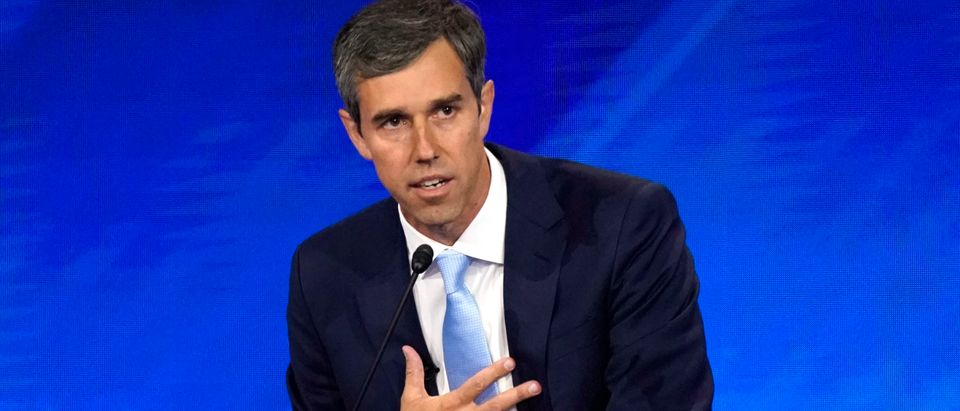 Former Rep. Beto O'Rourke delivers his closing statement at the end of the 2020 Democratic U.S. presidential debate in Houston