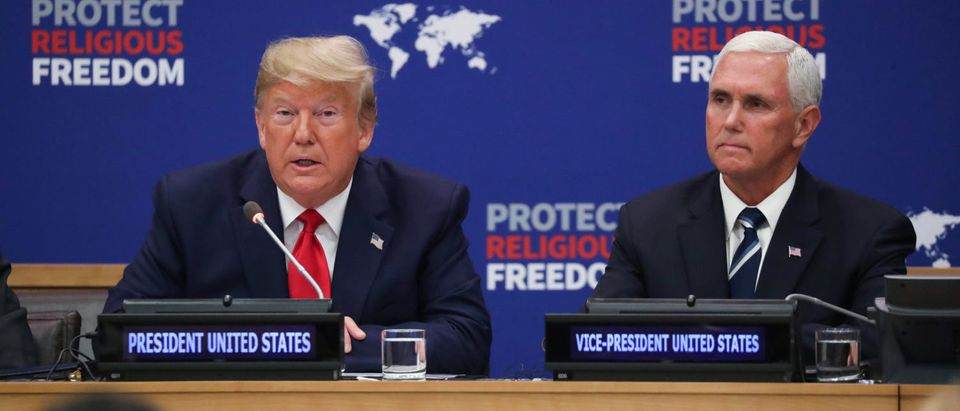 "U.S. President Trump attends ""Global Call to Protect Religious Freedom"" event at the United Nations in New York"