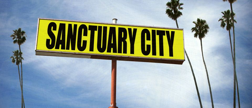Sanctuary city sign. Shutterstock